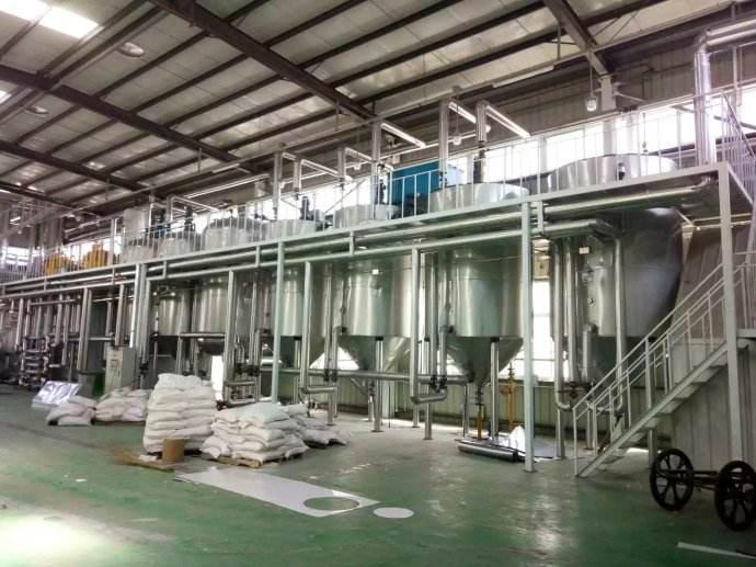 Animal oil refining production line